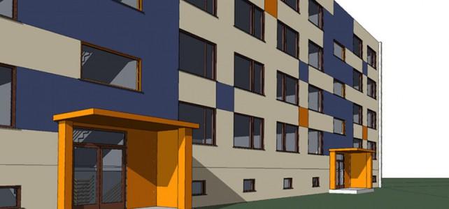 Revitalizace fasády – panelové domy – Vlašim