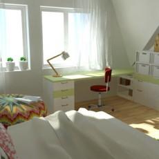Interiér dětského pokoje pro slečnu 9+