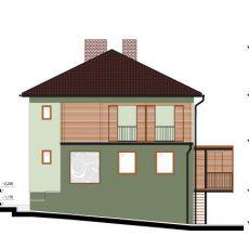 Návrh fasády a přístavby terasy k RD