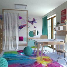 Interiér dětského pokoje – Pokojík pro ségry